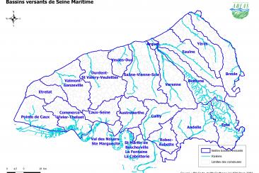 Carte des bassins versants de Seine-Maritime (2010, version png)