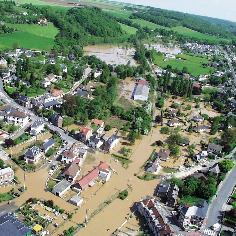 Inondation dans la vallée de l'Austreberthe