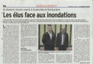 """Le courrier cauchois du 15/05/2009 : article """"Les élus face aux inondations"""""""